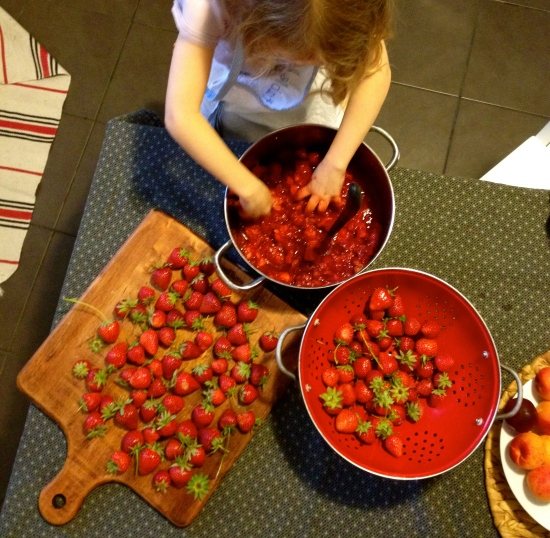 La confiture de fraises